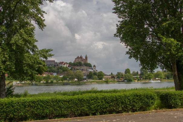 Breisach from Ile du Rhin
