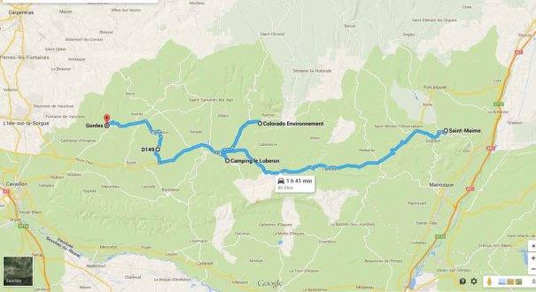 Route to Gordes