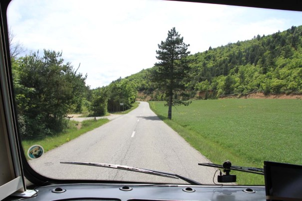 Road into the Luberon.
