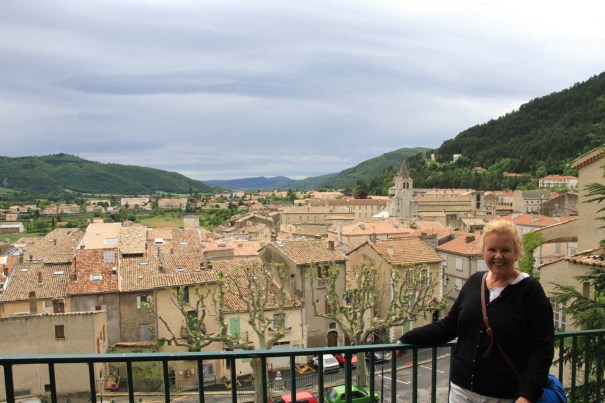 Looking Over Sisteron from the Path up to the Citadel.