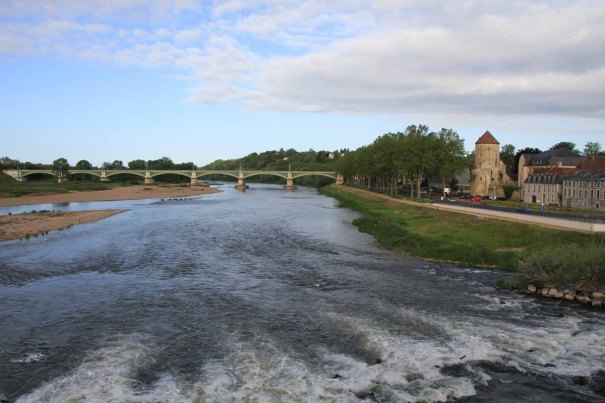 The Loire from the bridge at Nevers