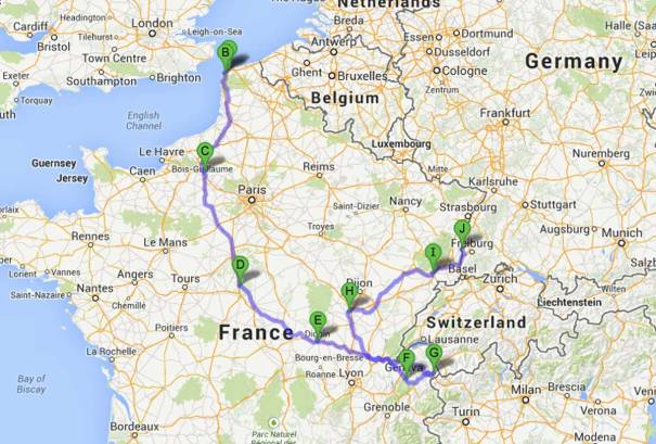 Route So Far