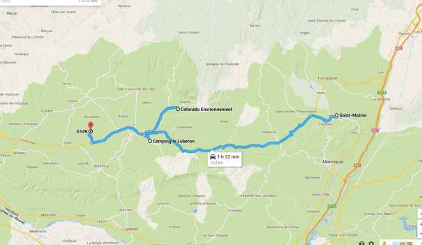 Route to Roussillon