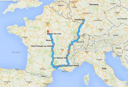 Route to Sully sur Loire