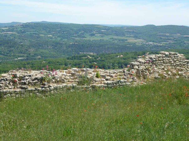 Looking over the Luberon from the Village.