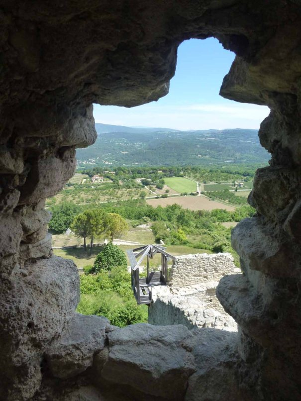 From the fortifications around the rock.