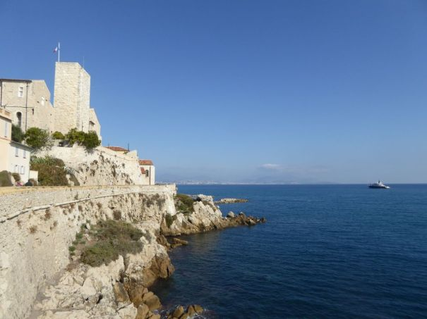 Looking east from Antibes