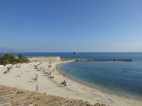 Antibes Beach.