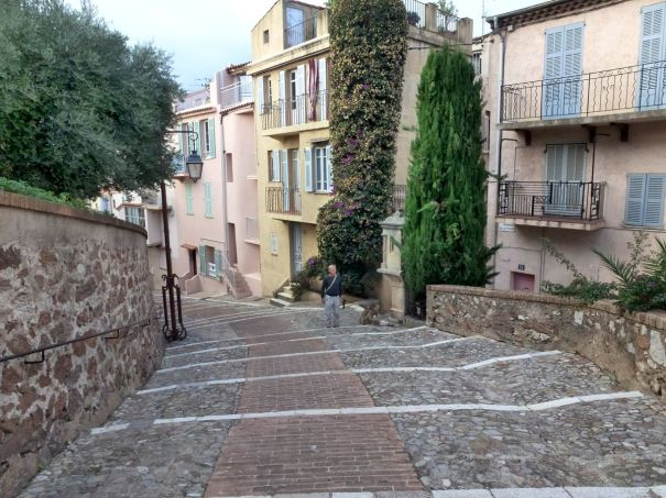 Street leading down from the castle.