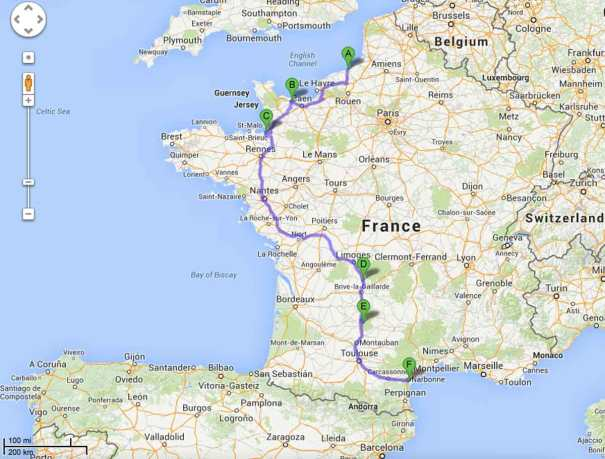 Route to La Nautique