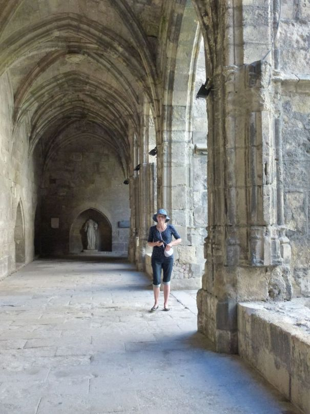 Jane in the Cathedral Cloisters.