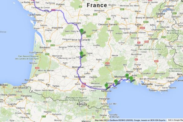 Route to Saintes-Maries-de-la-Mer
