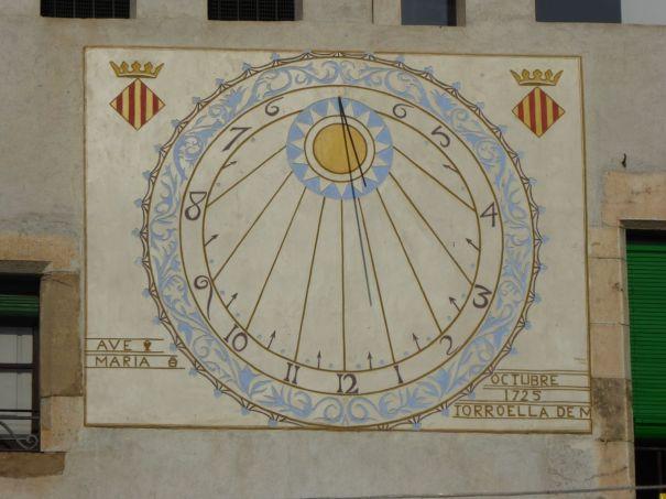 Sundial in Torroella