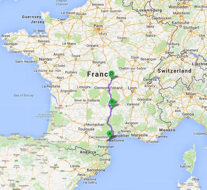 Narbonne plage to saint pour ain sur sioule travels with for Piscine st pourcain sur sioule