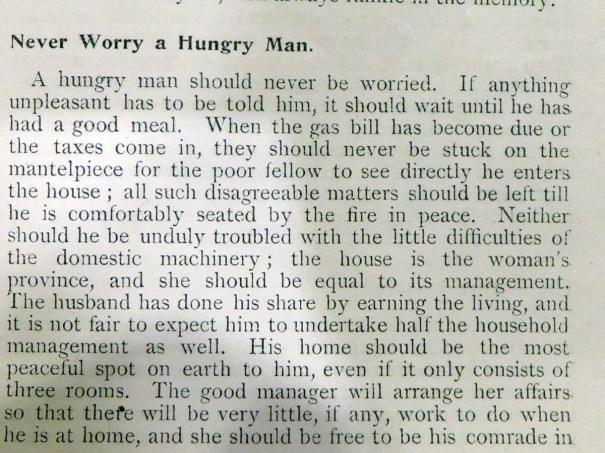 Food/Husband Advice