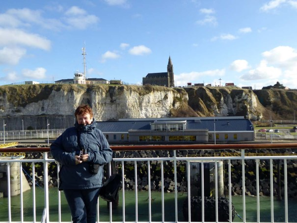 The White Cliffs of Dieppe. And the Missus.