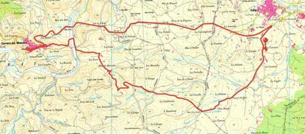Bike route to Cervera