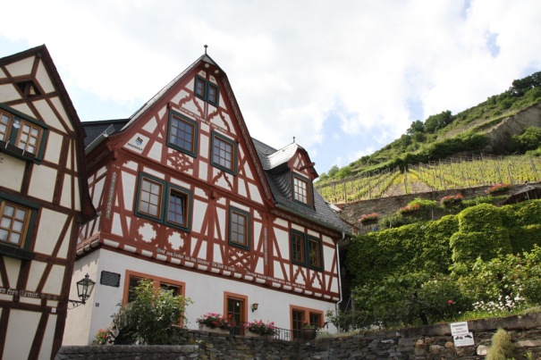 Half Timbered  Medieval House below the Vineyards