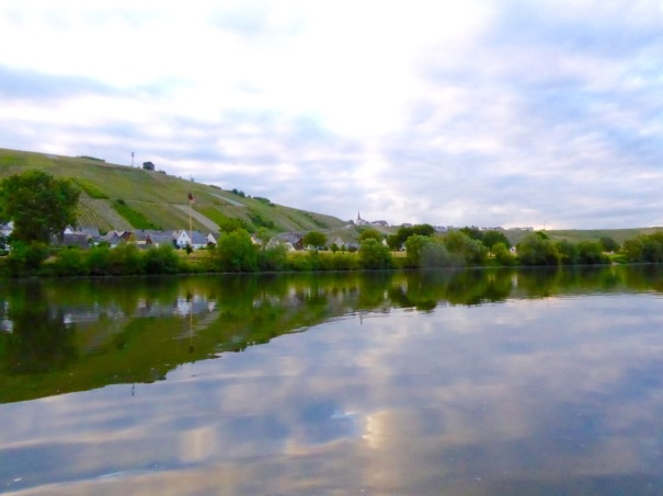 In the evening I blew the canoe up and paddled up river a bit.