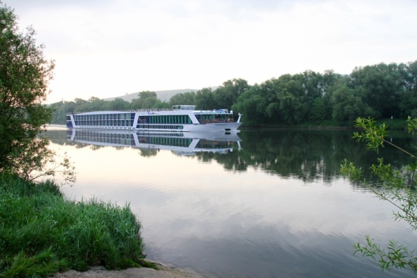 There isn't as much traffic on the Moselle as the Rhine but the odd barge and passenger cruiser chug past.