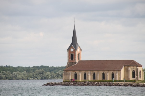 This old church looks out over the lake