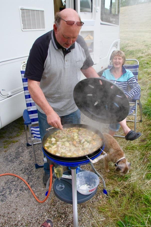 Alan cooking