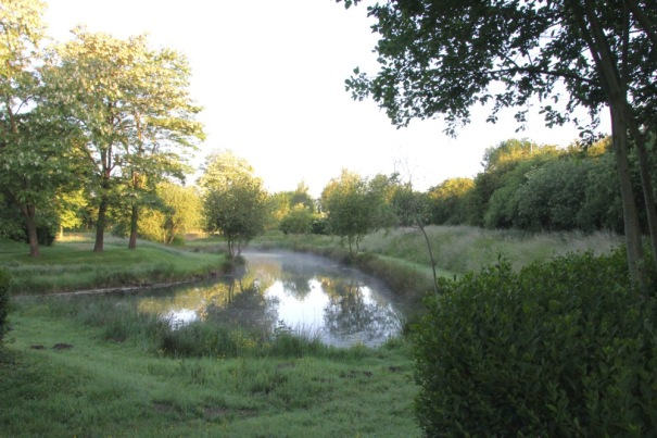 One of the lakes at the Aire.