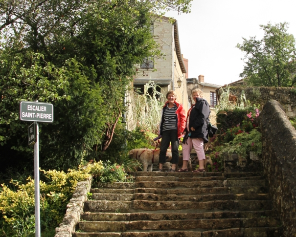 Steps to the town