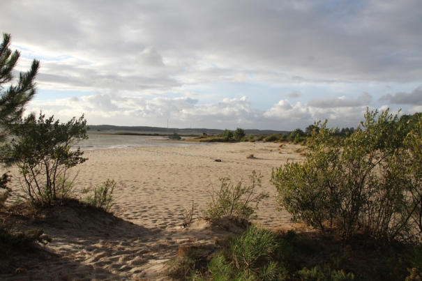 Beach at Hourtin Port