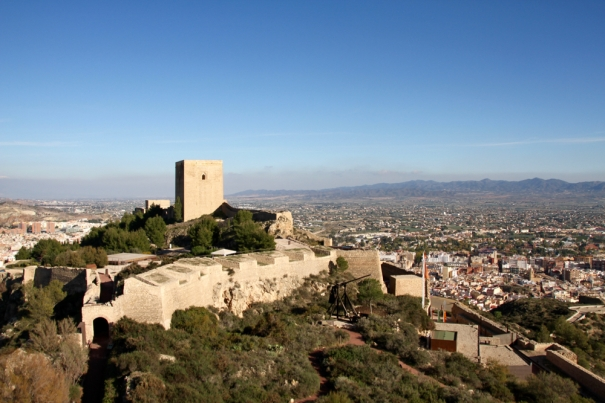 Alfonso Tower, guarding the east end of Lorca Castle
